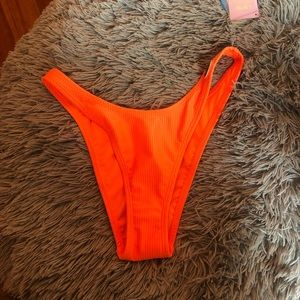 neon orange bikini bottom